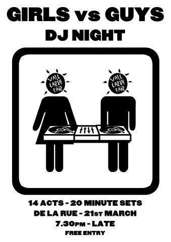 girls vs guys dj night