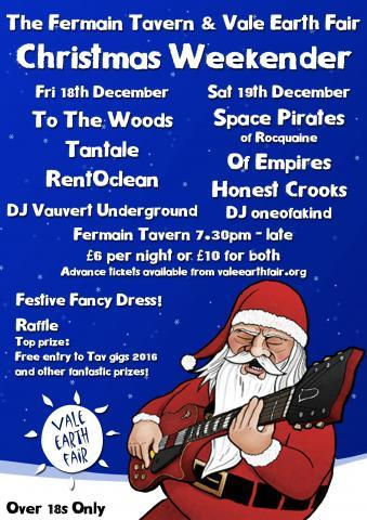 Tav and VEF Xmas Weekender Poster
