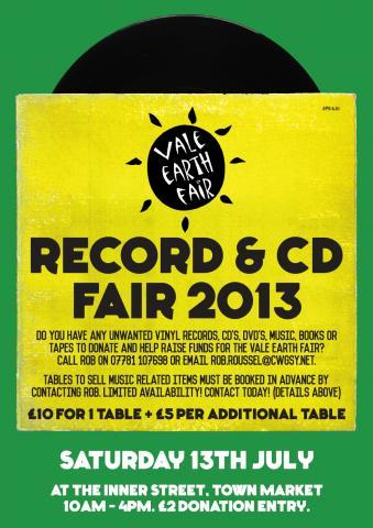 Vale Earth Fair Record & CD Fair Fundraiser